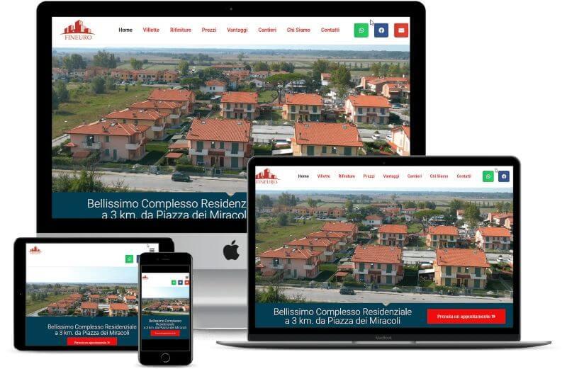 sito internet visibile su tutti i dispositivi