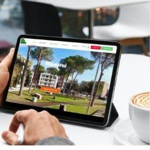 sito web su tablet
