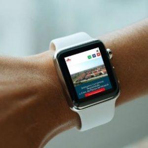 sito web visibile su smartwatch